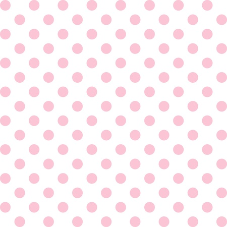 Illustration pour Seamless pattern, pastel pink polka dots, white background.   includes pattern swatch that will seamlessly fill any shape. For arts, crafts, fabrics, decorating, albums, scrapbooks. - image libre de droit