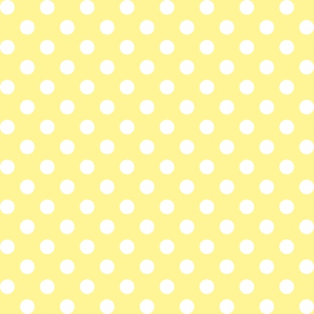 Seamless pattern, big white polka dots, pastel yellow background. includes pattern swatch that will seamlessly fill any shape. For arts, crafts, fabrics, decorating, albums, scrapbooks.
