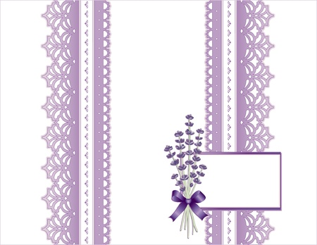 Vintage Lace, Victorian style, pastel violet, Sweet Lavender flower bouquet,  Gift card with copy space for birthdays, anniversaries, Mother s Day, weddings, showers, celebrations