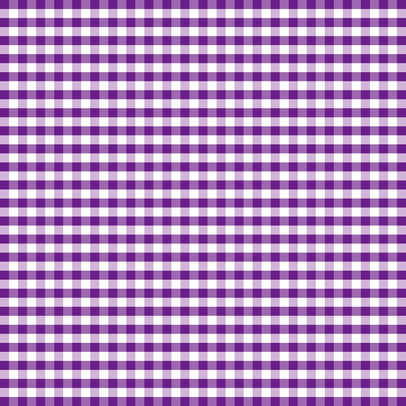 Seamless Pattern, Purple and White Gingham Check Background