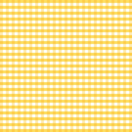 Illustration pour Seamless Pattern, Yellow and White Gingham Check Background     - image libre de droit