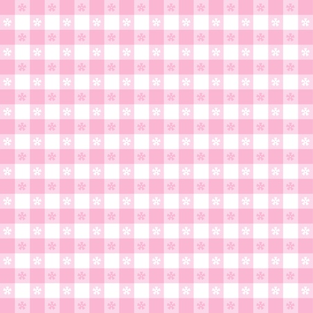 Seamless tablecloth pattern, pastel pink gingham check   EPS8 file includes pattern swatch that will seamlessly fill any shape  For picnics, restaurants, cafes, bistros, home decorating, arts, crafts, scrapbooks, albums