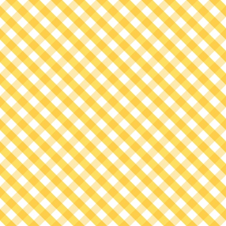 Ilustración de Seamless Cross Weave Gingham Pattern in yellow and white includes pattern swatch that will seamlessly fill any shape  - Imagen libre de derechos
