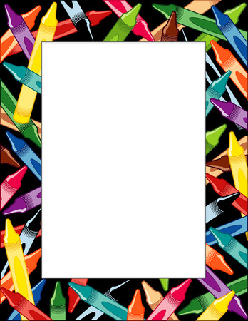 364eb861cc08 Vector of Crayons Frame