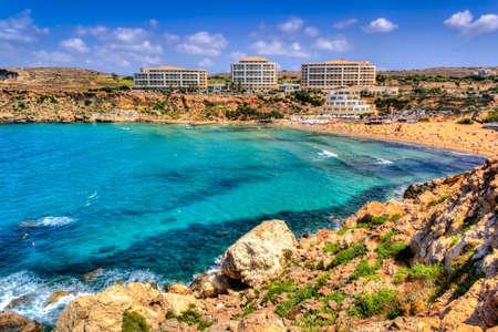 Amazing Golden Bay in Malta