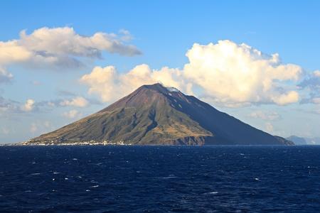 Stromboli volcano island in the Mediterranean sea Sicily Italy