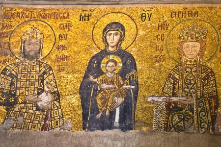 Virgin Mary and the child at Hagia Sophia, Istanbul, Turkey