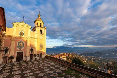Church of Nostra Signora del Soccorso (16th century), Vezzano Ligure village, La Spezia province, Liguria, Italy, Europe