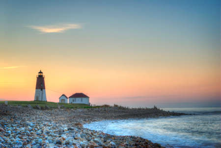 Point Judith Lighthouse, Rhode Island, at sunrise