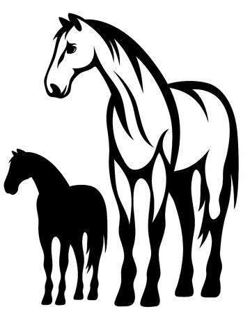 Illustration pour standing horse vector illustration - image libre de droit