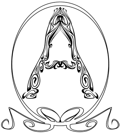 Art Nouveau style font - letter A