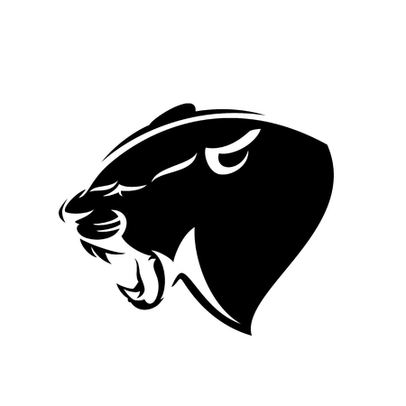 Illustration for Roaring panther profile head - Royalty Free Image