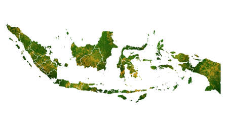 Photo pour Indonesia map detailed visualization for country place,travel,texture and background - image libre de droit