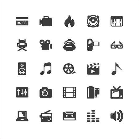 Retina Media Icon Set