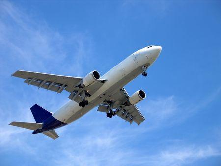 airplane blue sky