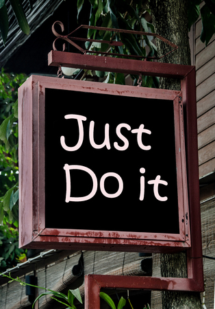 just do it sign