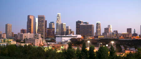 Los Angeles Skyline Downtown at Dusk