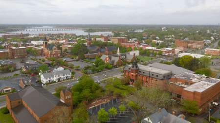 Photo pour New Bern North Carolina is situated on the Neuse River and was the states first capital - image libre de droit
