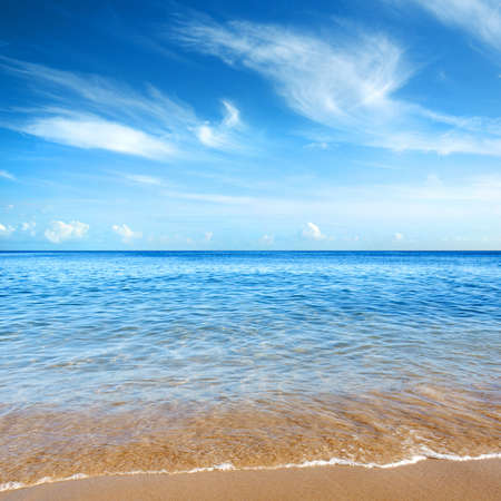 Beautiful seashore with calm cristal clear water