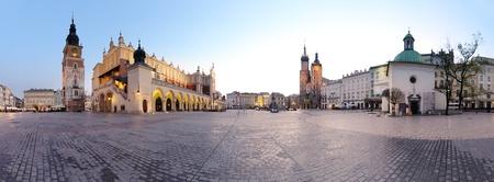 City square in Krakᅵw, Poland