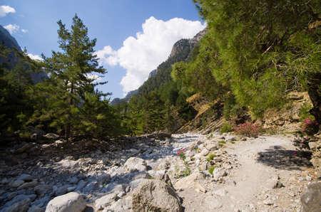 Famous Samaria Gorge, Crete, Greece