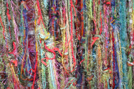 Multi colored yarns and threads for texture or background