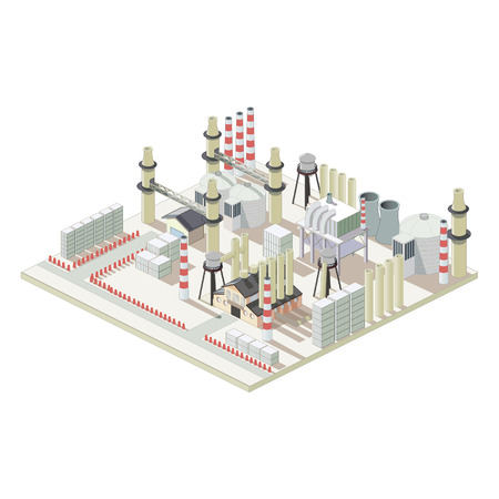 Isometric industrial factory map