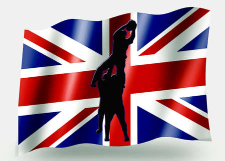 Country Flag Sport Icon Silhouette Series – UK Rugby Lineout