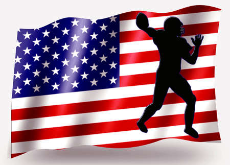Country Flag Sport Icon Silhouette Series – USA American Football