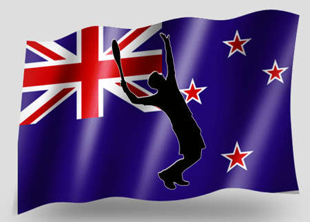 Country Flag Sport Icon Silhouette Series – New Zealand Tennis