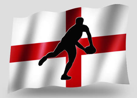 Country Flag Sport Icon Silhouette Series – English Rugby Pass