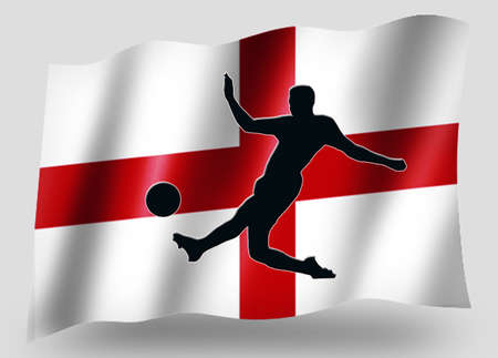 Country Flag Sport Icon Silhouette Series – English Soccer