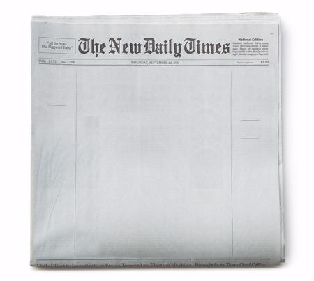 Photo pour Fake Newspaper Front Page Blank with Title - image libre de droit