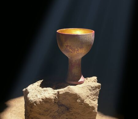 Photo for Holy Grail Sitting on a Rock - Royalty Free Image
