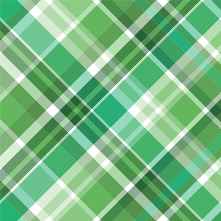 Illustration of green plaid for background pattern
