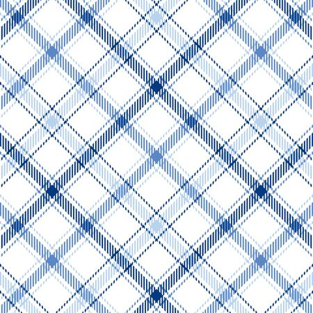 Plaid background pattern in three shades of blue