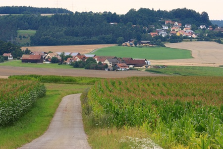 The little villages Hartenricht and Neukirchen near to Schwandorf in Bavaria