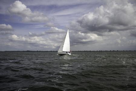 Photo pour Boats at sea sailing, vehicles and transportation, travel - image libre de droit