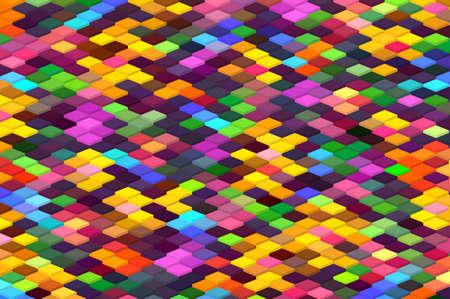 Photo pour isometric minimal abstract cubes and squares colorful backgrounds textures patterns - image libre de droit