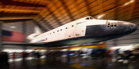 Endeavour on display at the California Science Center, Los Angeles, California, USA