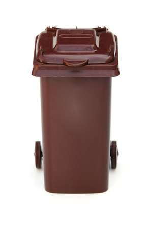 brown wheelie bin