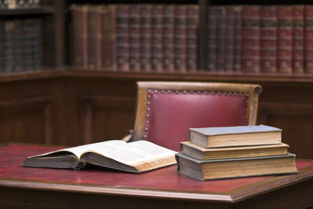 Photo pour Open book on the table. Educational environment - image libre de droit
