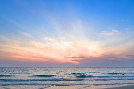 Pink Sunrise At Sea