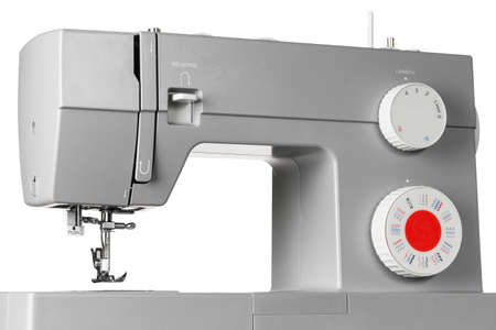 Photo pour Modern electric sewing machine isolated on white background - image libre de droit