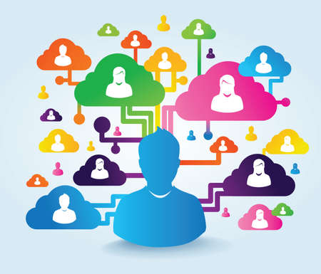 Photo pour cloud and social media - image libre de droit