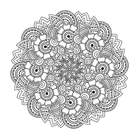 Floral Kaleidoscope Mandala