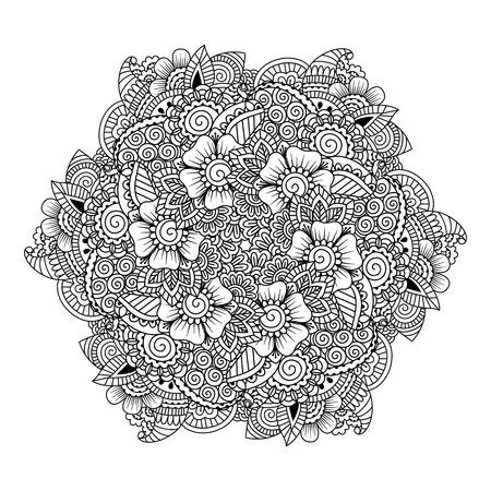Flower Doodle Swirl Mandala