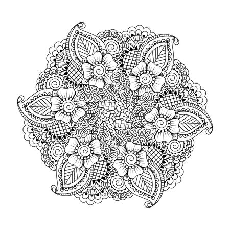 Floral Leaf Mandala