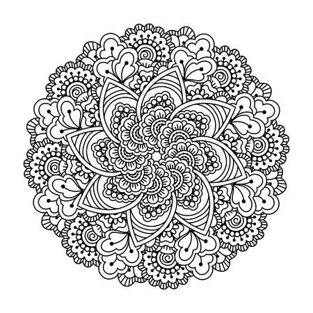 Lotus Doodle Mandala