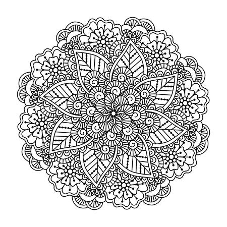 Flower Swirl Mandala